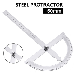 180 Degree Protractor Angle Ruler 150mm Stainless Steel Protractor Rotary Angle Finder Ruler Measuring Tool For Woodworking