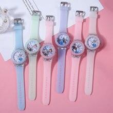 Disney frozen 2 crianças relógio princesa aisha anna relógios luminosos relógios de quartzo relógio de aniversário da menina brinquedos de natal presentes