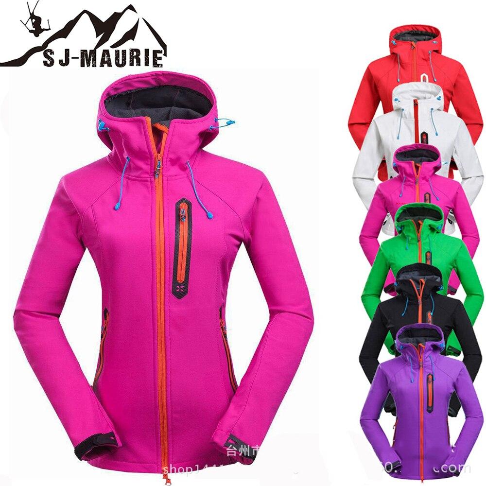 SJ-Maurie Winter Coat Female Hiking Skiing Trekking Softshell Jacket Women Sportwear Windbreaker Jackets S-3XL Chaqueta Trekking