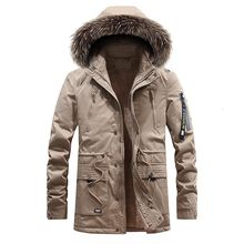 Parka Men Coats 2020 Winter Hooded Cotton-Padded Jacket Male Clothing Outdoor Thicken Warm Military Coat Top Casual Mens Jackets(China)