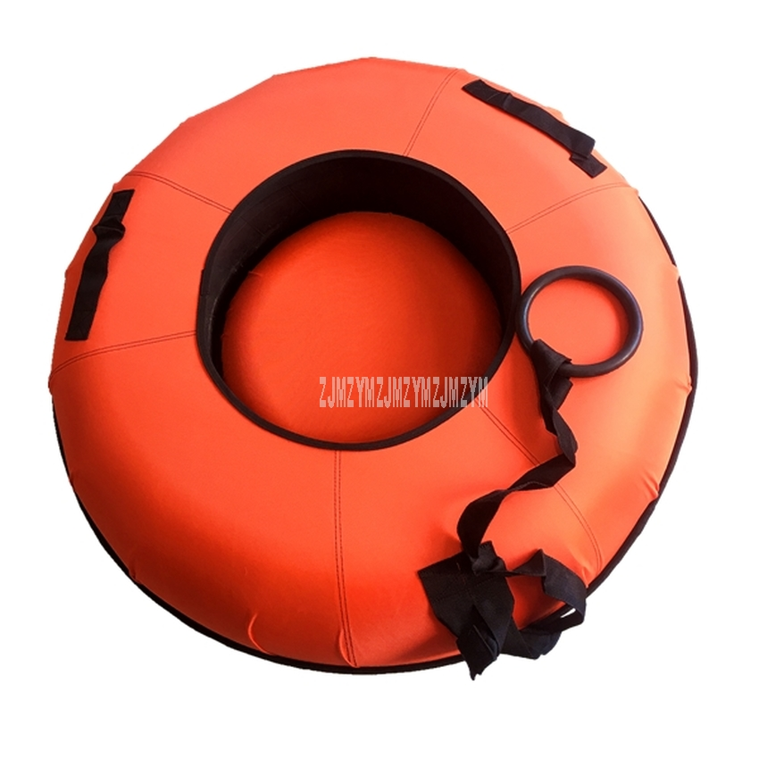 1M Double Person Skiing Ring Rubber Winter Inflatable Inner Tyre Ski Circle For Adult Outdoor Snow Skiing Pad Board Winter Sport