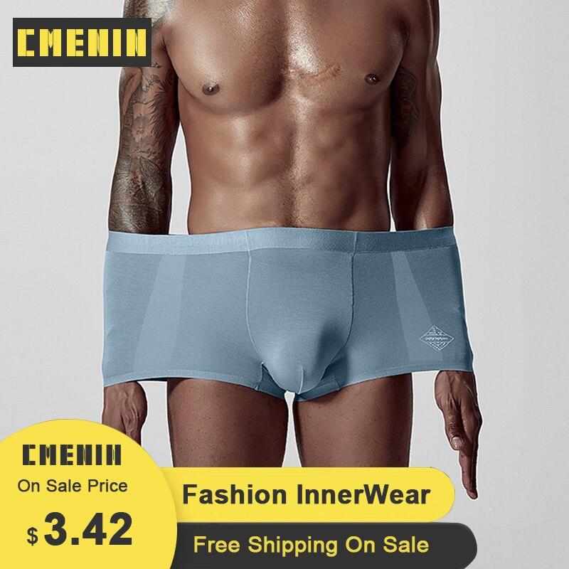 CMENIN Sexy Boxer Men Underwear Modal Soft Gay Men Underwear Cotton Cueca Male Panties Cuecas Lingerie Men Underware 2020 AD308