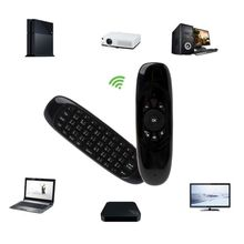 лучшая цена Russian English C120 Fly Air Mouse 2.4G Mini Wireless Keyboard Rechargeable Remote Control for PC Android TV Box