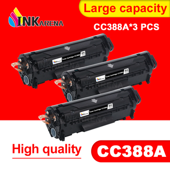 INKARENA 3PCS 388A 88A Compatible For HP388A 88A Toner Cartridge For HP LaserJet P1007 P1008 P1106 P1108 M1136 M1213nf M1216nfh