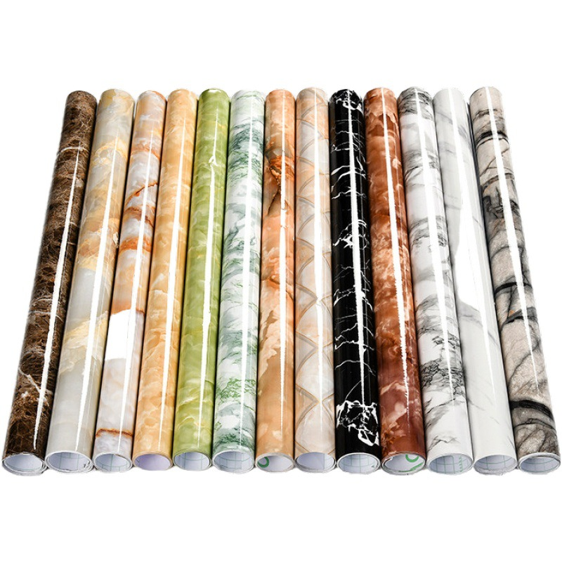 10M DIY Thick Waterproof Pvc Imitation Marble Pattern Stickers Modern Vinyl Self Adhesive Wallpaper Renovation Of Furniture