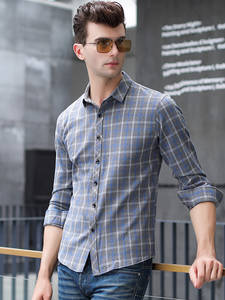 COODRONY Shirt Men Long-Sleeve Spring Business Plaid Autumn Casual Fashion New-Arrival