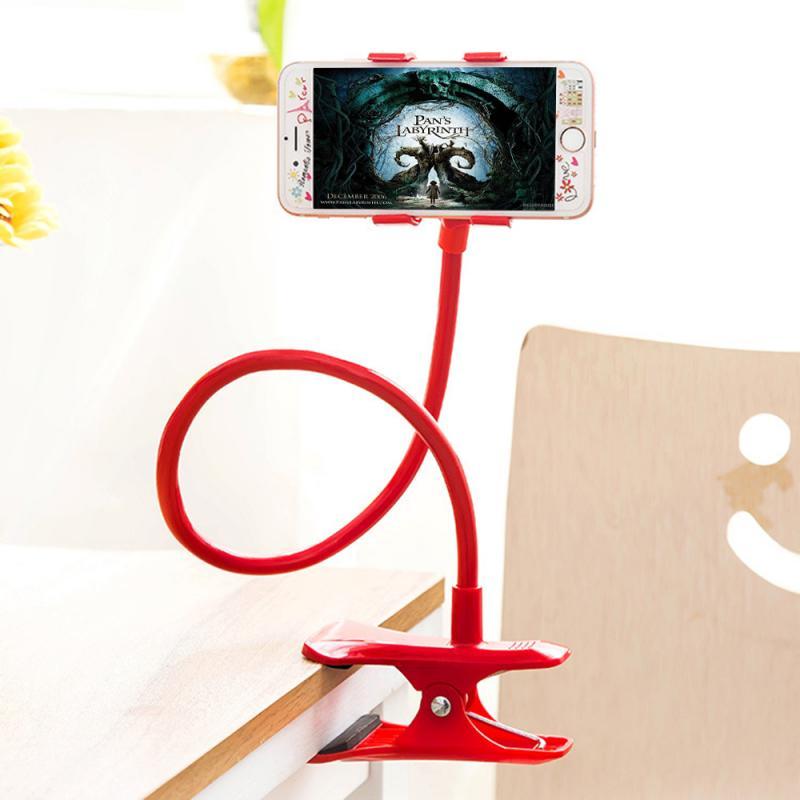 Lazy Bracket Flexible 360 Clip Mobile Cell Phone Holder Lazy Bed Desktop Bracket Mount Stand Bedroom Gym Office(China)