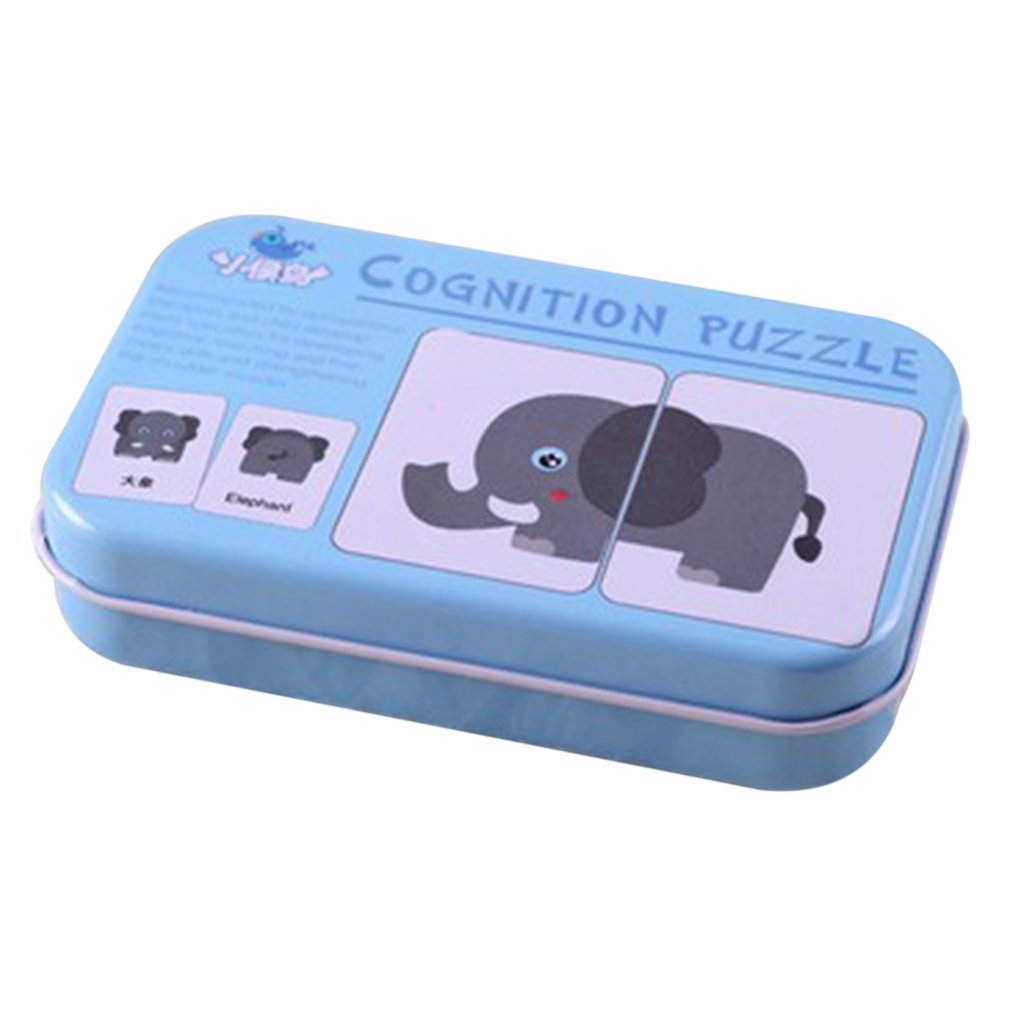 Baby Montessori Learning Card Children Cognitive Card With Iron Box Kids English Learn Tool  Educativos Tools Table Game Puzzle