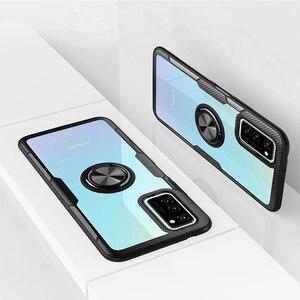 Роскошный чехол-бампер для Huawei Honor V30, прозрачный чехол Nova 6 V30 Pro Nova 6 Se Mate 30 Pro 5G с магнитным автомобильным кольцом, чехол