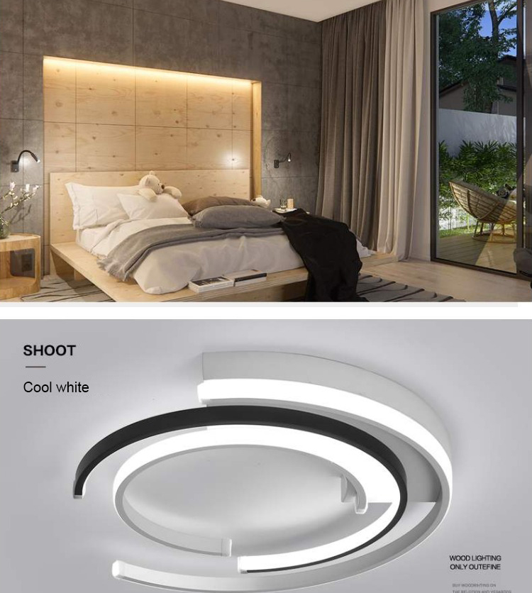 Hc3cadf07619b44b080a854792d448e4cv LICAN Modern LED Ceiling Lights Living room Bedroom lustre de plafond moderne luminaire plafonnier White Black LED Ceiling Lamp