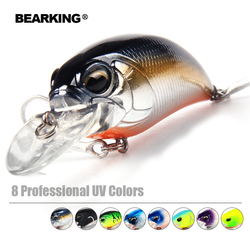 Bearking Bk17-8A Fishing Lure 1PC 14g 65mm Crank Artificial Bait Wobbler Minnow Fishing Lure 2 BKK Hooks Fishing Tackle