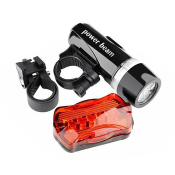 5 LED Waterproof Bicycle Front Back Light Set Tail light Road MTB Mountain Bike Rear Light Lamp Cycling Lantern Flashlight image