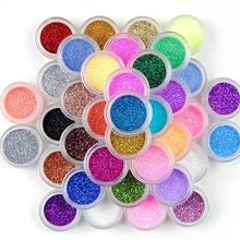 Маникюрный набор с маленькими шестигранными блестками 24 цвета