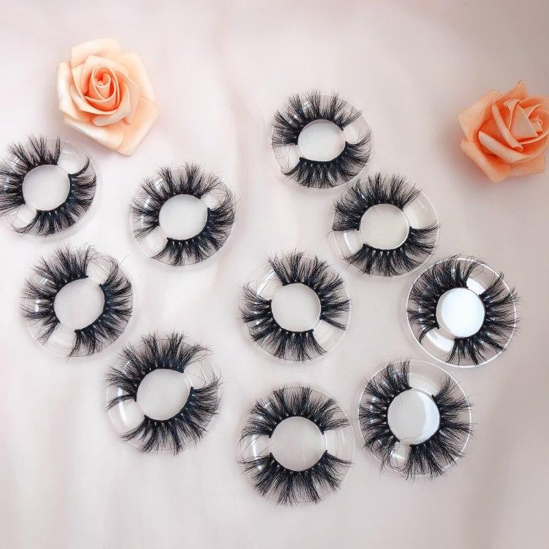 40 Pairs/Lot Eyelashes 5D Real Mink Eyelashes Natural Long Lollipop Eyelashes 100% Hand Made False Lashes Eye Extension