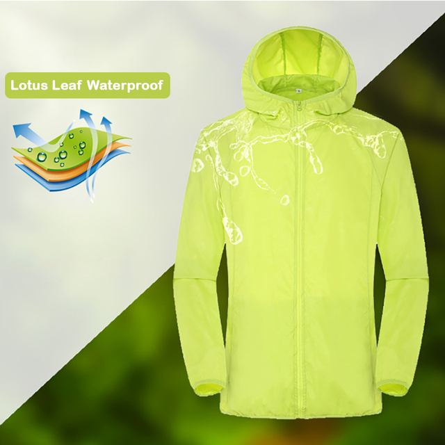 Camping Rain Jacket Men Women Waterproof Sun Protection Clothing Fishing Hunting Clothes Quick Dry Skin Windbreaker With Pocket 2