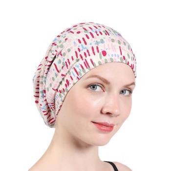 Muslim headdress turban bonnet for woman cotton print inner hijab caps arab headwrap femme musulman islamic headscarf - discount item  30% OFF Muslim Fashion