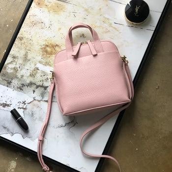 Bolsa de concha de textura Simple con un solo hombro inclinado bolso de cuero suave