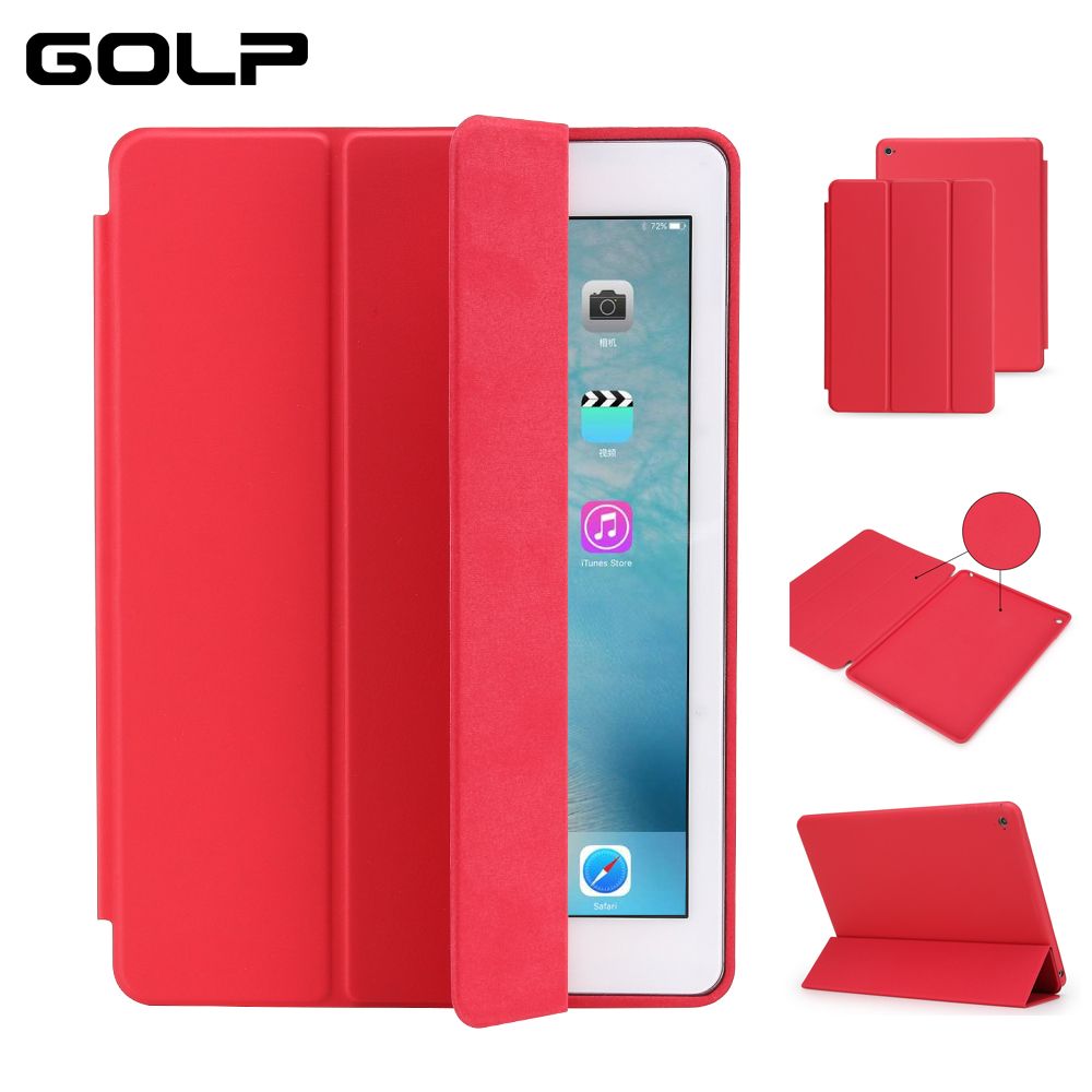 <font><b>Case</b></font> For <font><b>iPad</b></font> 2018 2017 9.7 inch GOLP PU <font><b>Leather</b></font> Shockproof Smart <font><b>Case</b></font> For <font><b>iPad</b></font> <font><b>mini</b></font> 1 2 3 4 <font><b>5</b></font> <font><b>2019</b></font> cover image