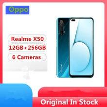DHL szybka dostawa Realme X50 5G telefon komórkowy Snapdragon 765G Android 10.0 6.57