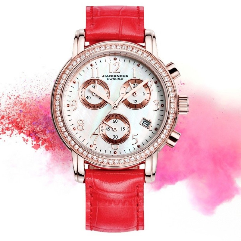 CARNIVAL Fashion Women Colorful Dial Reloj Mujer Concise Girl Wrist Watches Female Quartz Watches Waterproof 30M Calendar Clocks