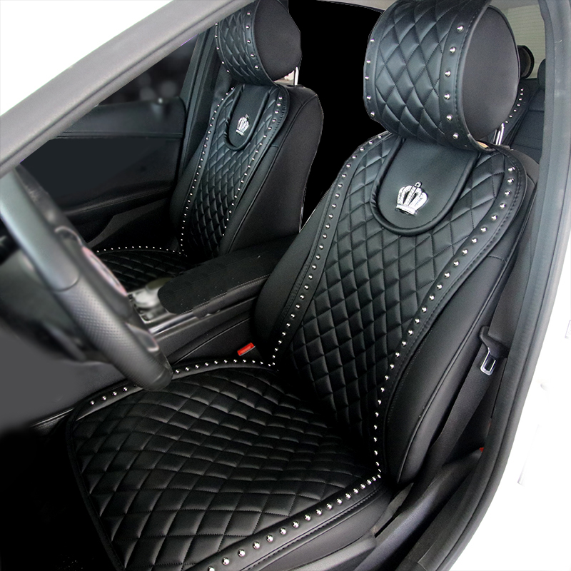 Leather-Car-Seat-Cover-Crown-Rivets-Auto-Seat-Cushion-Interior-Accessories-Universal-Size-Front-Seats-Covers (3)3