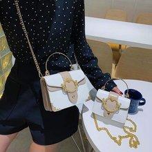 Элегантная женская сумка тоут с металлическим кольцом модная