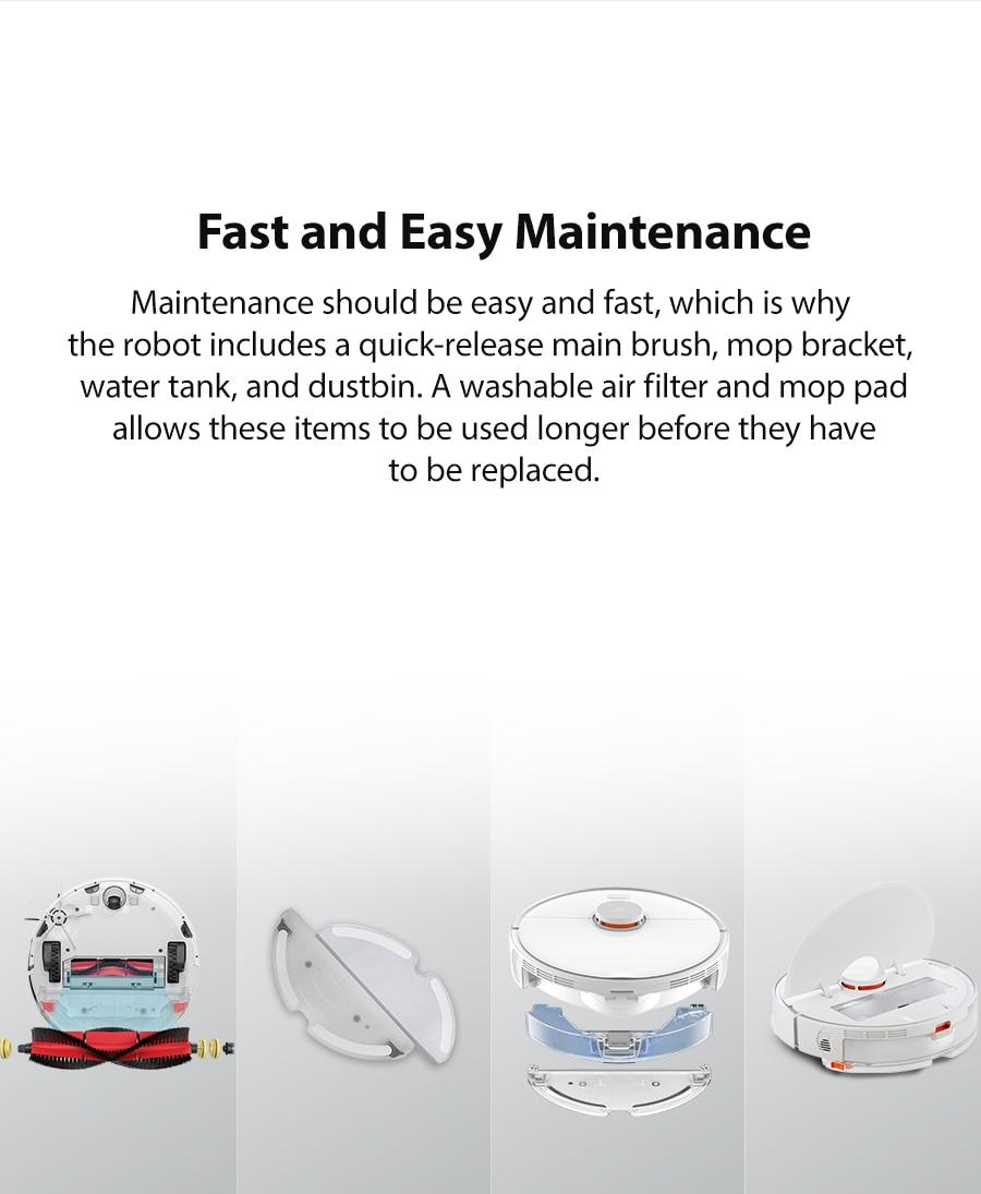 Hc3cbc824dcfa4e7490e3e02982f41fbav 2020 New Arrival Roborock S5 Max Robot Vacuum Cleaner Xiaomi Mijia S5max cordless for home upgrade of S50 S55 collect pet hairs
