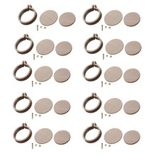 10pcs/set Mini Embroidery Hoop Round  Wooden Small Embroidered Stretch Handmad Cross Stitch Frame Diy Crafts Tools
