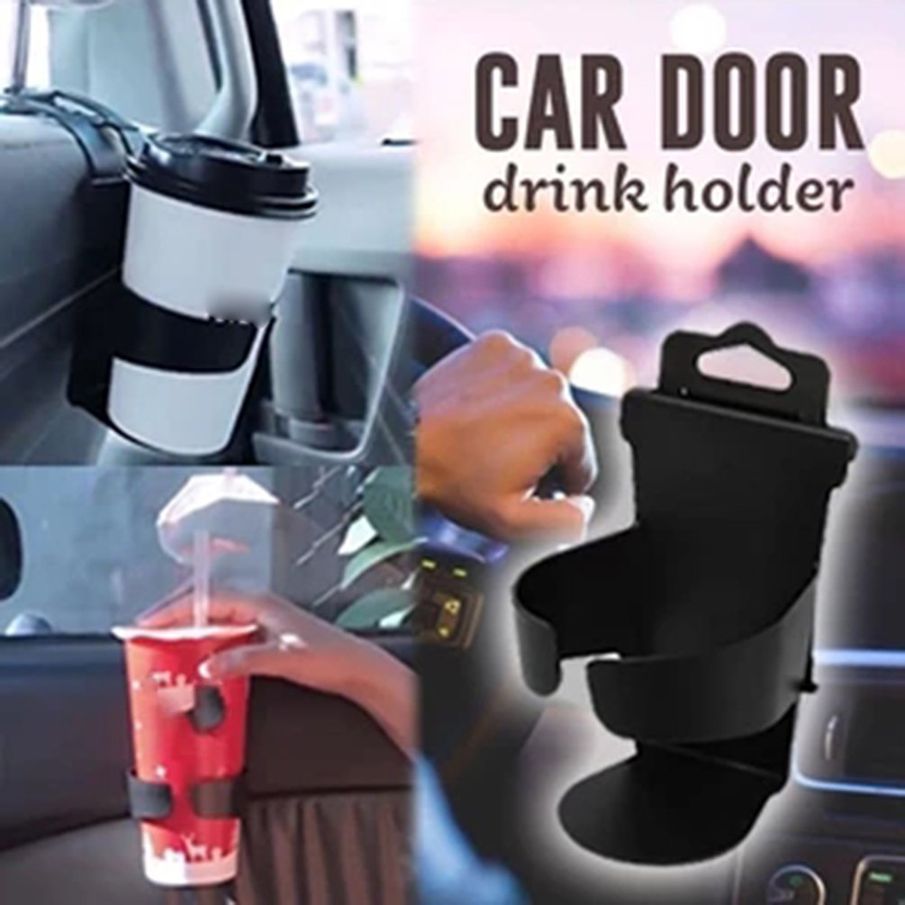 Car Multi-Function Beverage Rack Car Door Side Back Cup Holder Car Supplies Cup Holder Convenient And Practical