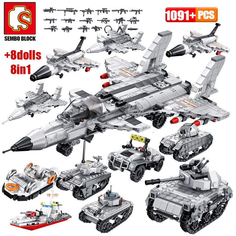 Military Armoured Vehicle Tank Model Building Blocks For Legoingly WW2 City Police Antiaircraft Warship Figures Bricks Kids Toys