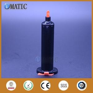 Image 2 - Gratis Verzending Groothandel 500 Sets Us Stijl Nieuwste Dispenser Spuit 30cc/Ml Black Pneumatische Doseren Spuiten Met Stopper
