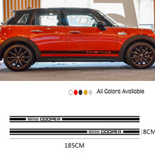 Car Stickers Body Door Side Stripes Sticker Vinyl Decal For MINI Cooper S One Countryman F54 F55 F56 R55 R56 R60 Car Accessories
