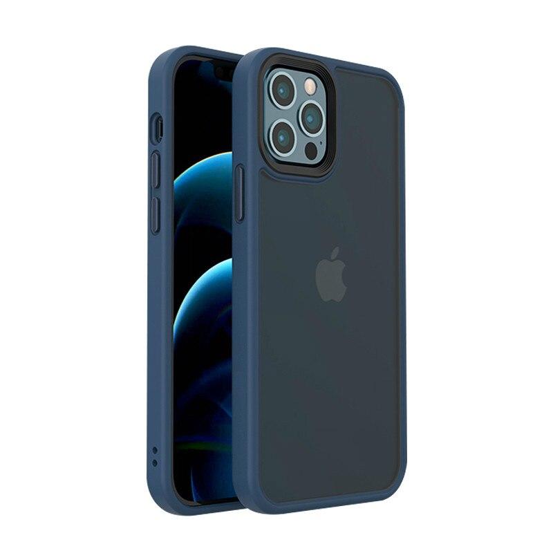 Оригинальный чехол для iPhone 12 Mini, противоударный чехол для iPhone 12 Pro Max, матовый полупрозрачный чехол, роскошный защитный чехол