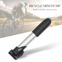 1 pçs preto mini portátil de alta resistência plástico bomba de bicicleta bicicleta pneu inflator ultra-leve bicicleta gadgets auto-inflator
