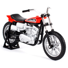 Maisto 1/18 1:18 Scale 1972 XR750 Racing Bike Diecast Display Alloy Collectible Models Children Boys Kid Toys 1 10 scale alloy diecast racing bike w basket