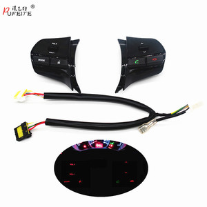 Image 1 - Steering wheel audio volume music control button  for KIA  K2 new RIO K2 switch for Bluetooth telephone sound  back light