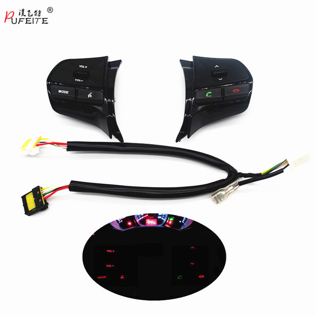 Steering wheel audio volume music control button  for KIA  K2 new RIO K2 switch for Bluetooth telephone sound  back light