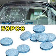 50Pcs window Car Windshield Glass Washer Strong Cleaning Concentrate Effervescent Tablet For Auto And Household Clean