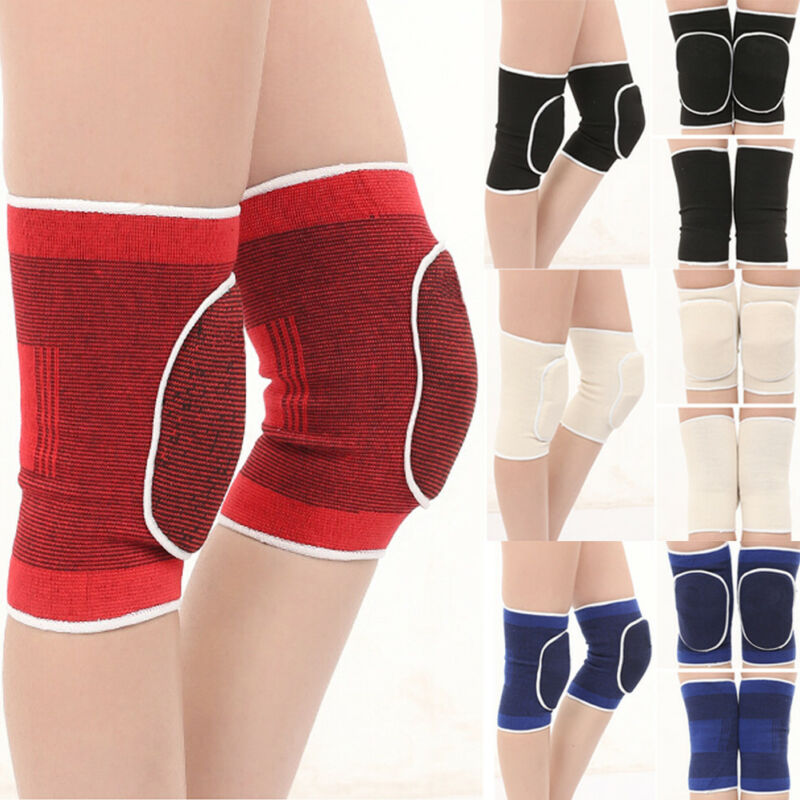 Hot 2PCS Fitness Running Cycling Knee Support Braces Elastic Nylon Sport Knee Pads Exercise Support Sports Sponge Knee Pads 3FS