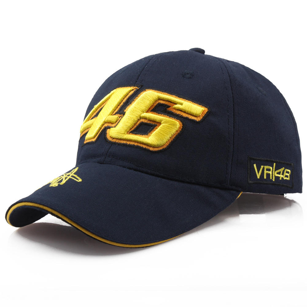 Star Rossi Signature VR46 With Numbers Embroidered Baseball Cap Motorcycle Hat Racing Cap Sports Baseball Cap