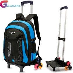Backpacks Children School Bags Mochila Kids Trolley With Wheel Trolley Luggage For Girls Boys backpack Escolar Backbag Schoolbag