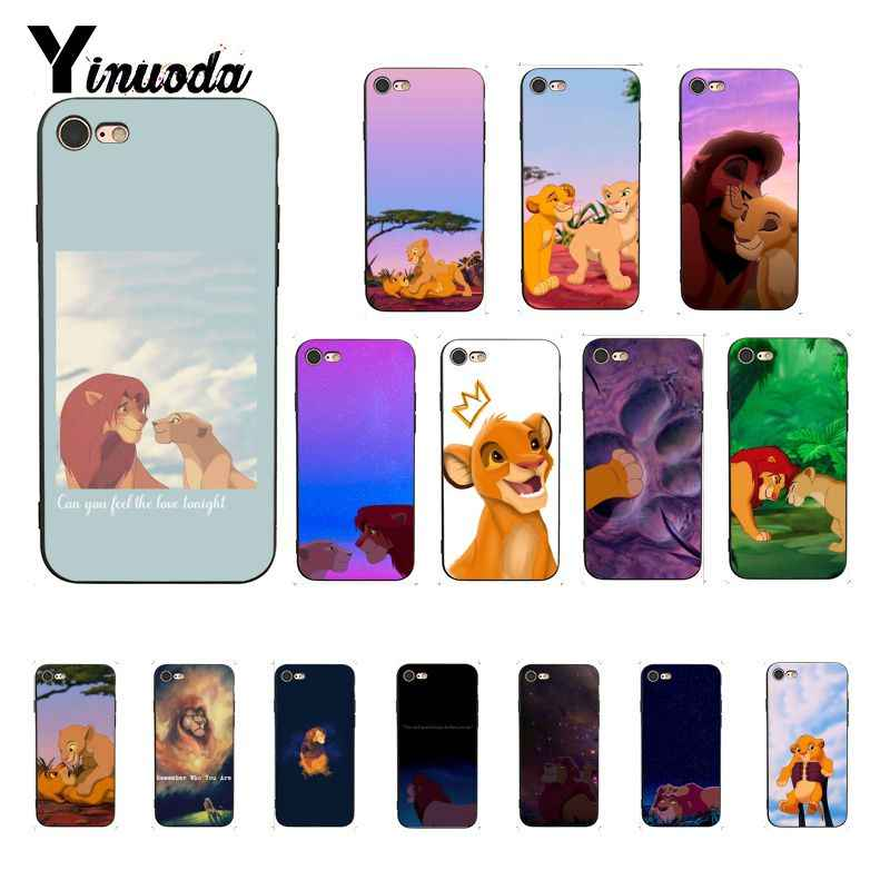 Yinuoda Lion King Simba cool Luxury High-end Protector โทรศัพท์สำหรับ iPhone 8 7 6 6S XS X MAX 5 5S SE XR 11 Pro Max