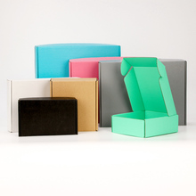 5pcs/10pcs/color gift box blank Festival Party display corrugated packaging storage wig carton support custom size print logo