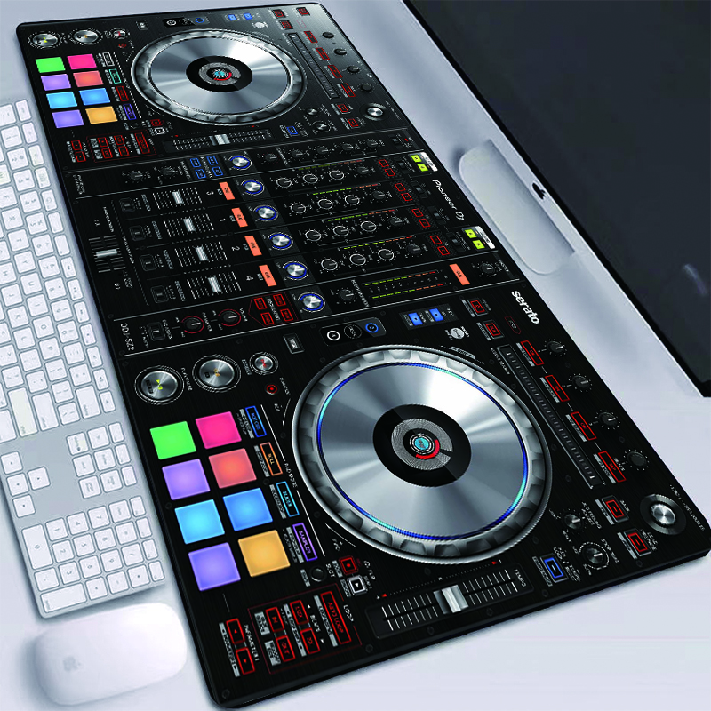 DJ Hand Drive Picture Printed Mouse Pads HD Wallpaper Desktop Mats Waterproof Professional With Sewn Edges Mice Mat Large XXL