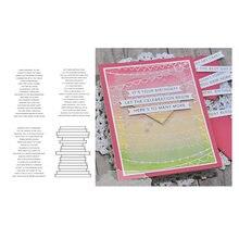 Matrices de découpe en métal et timbres clairs pour mots de Phrase, pour Scrapbooking, lettres, échelle, carte pochoir artisanale, faire Album décoratif