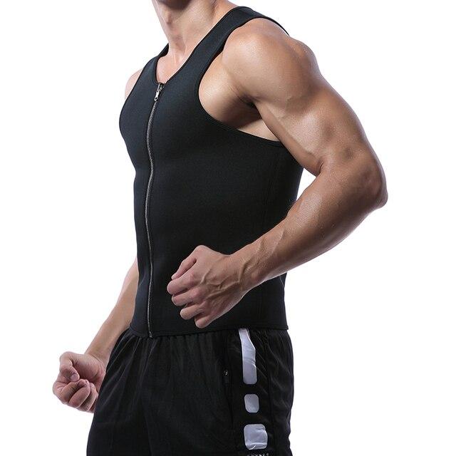 Miss Moly Men Shapers Waist Trainer Body Shaper Sauna Sweat Suit Bodysuit Men Slimming Belt Workout Fitness Tops 2