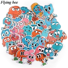 20sets/lot (39pcs/set) Flyingbee  Creative theme Funny Sticker PVC Scrapbooking for Luggage Laptop Decal X0722