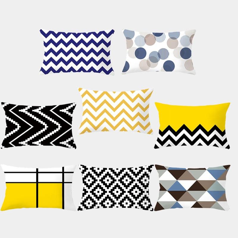 Pillowcase Lattice Striped Geometric Cushion Cover Polyester Fashion Decorative Mat Sofa Pillow Pillow Home Decoration 10327