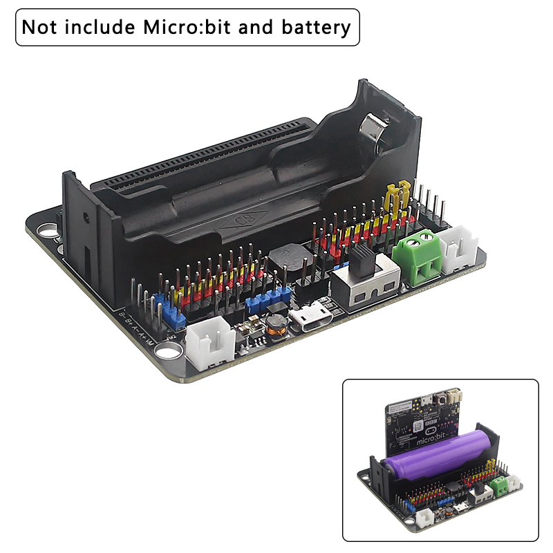 Micro:bit Robotbit V2.0 Extension Board Compatible 18650 Lithium Battery Expansion Accessory For BBC Micro:bit