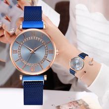 New Ladies Dress Wristwatches Top Brand Luxury Diamond Women Magnet Quartz Watch Female Waterproof Wristwatches relogio feminino